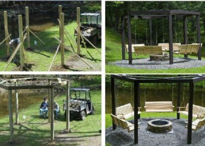 outdoor swing gathering
