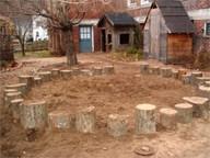 log sitting circle