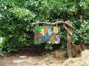 Tree of tunes sign