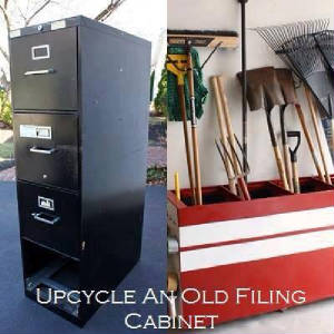 Upcycled old file cabinet